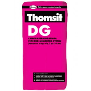 Самовыравнивающаяся гипсово-цементная смесь Thomsit DG