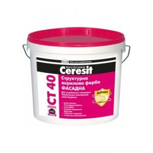Структурная акриловая краска Ceresit CT 40