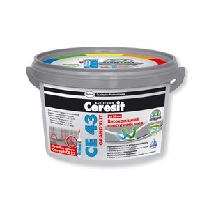 Высокопрочный эластичный шов с повышенной водостойкостью Ceresit CЕ 43 Grand Elit