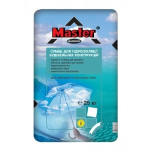 Мастер Барьер смесь для гидроизоляции (серая), 25 кг